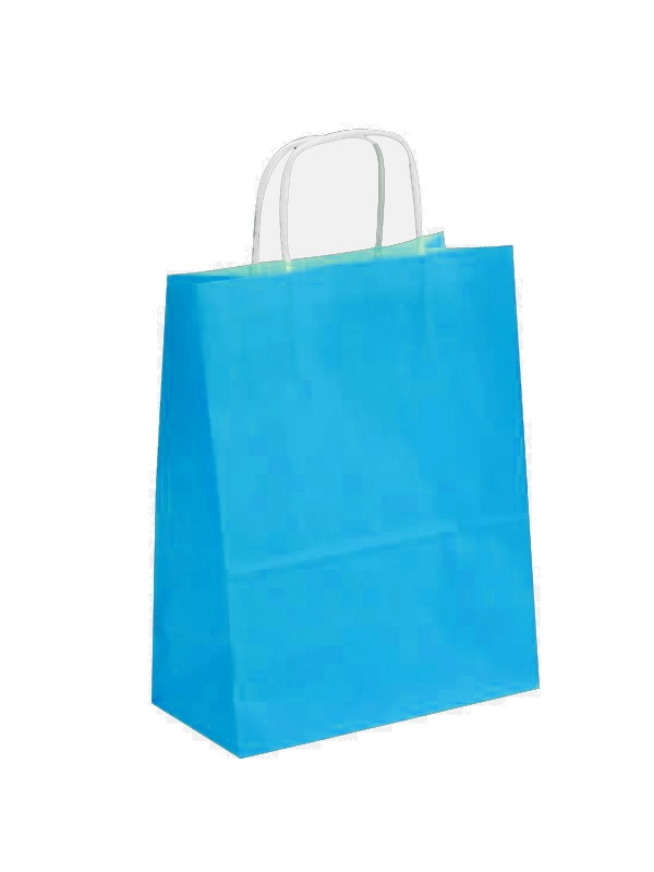 sac papier kraft turquoise-1